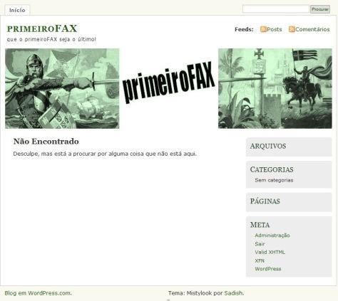 Primeiro fax